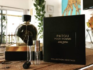 Collection Heritage Patou Pour Homme - Jean Patou  Not the original Patou Pour Homme - an all time classic which a vintage bottle would set you up a couple of hundreds - but a modern reformulation with a hint, a whiff, of older days.  LOVE or HATE this creation by house perfumer Thomas Fontaine seems to elude common ground between the fragrance community, that either sees it as a shameless shadow of the original or a scent that definitely stands on it's own.  Collection Heritage Patou Pour Homme by Jean Patou is a Leather fragrance for men launched in 2013. Top notes are Lemon, Galbanum, Bergamot and Pepper; middle notes are Lavender, Tarragon, Jasmine, violet leaves and Rose; base notes are Olibanum, Patchouli, Leather and Ambergris.  Buy 1ml, 3ml and 5ml samples at lshamanparfums.com  #perfumesamples #shopdecants #perfumedecants  #perfumes #lshaman #lshamanparfumdecants #jeanpatou #patoupourhomme